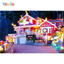 Yeele Christmas Family Photocall Decor Party Castle Photography Backdrops Personalized Photographic Backgrounds For Photo Studio customtye die muslin wedding backdrops photography cotton cloth photography backgrounds for photo studio christmas family f188