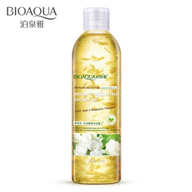 BIOAQUA 250ml Jasmine Petals Fragrant Shower Gel Deep Cleaning Whitening Moisturizing Exfoliator Bath Lotion Body Skin Care