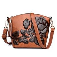 Women Parcel girl bags 2018 new fashions single shoulder bag female handbag antique embossed floral Chinese Style handbags
