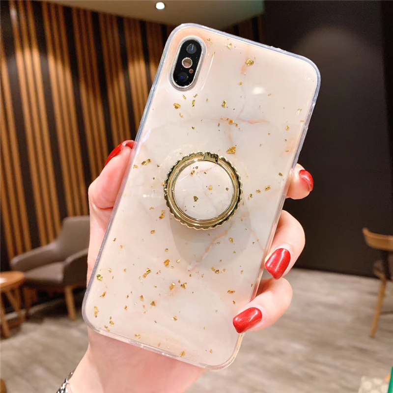 Luxury Gold Foil Bling Marble Phone Case For iPhone X XS Max XR Soft TPU Cover For iPhone 7 8 6 6s Plus Glitter Case Coque Funda 2