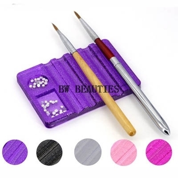 500Pcs/Lot Transparent Nail Brush Pen Holder Stand Base UV Gel Nail Art Brushes Display Rest Beauty Manicure Tools Equipment