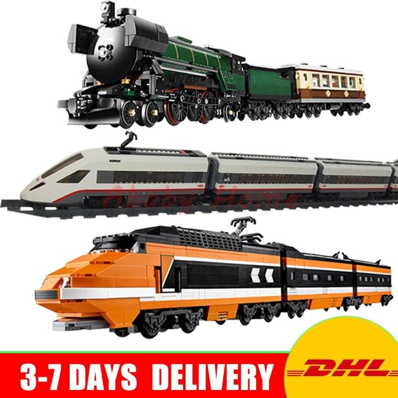 Lepin 21005 + 21007 +02010 Genuine Technic Ultimate Series Emerald Night Train Set Building Blocks Bricks Educational Toys