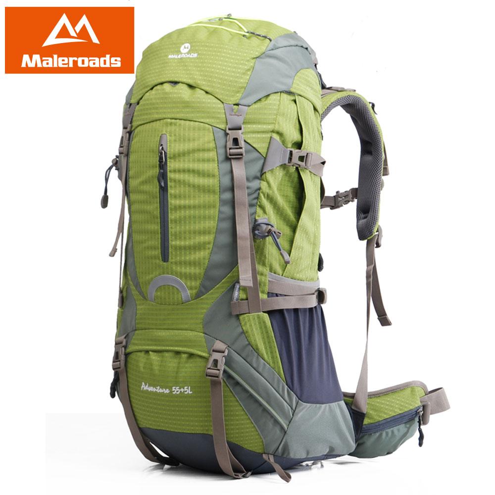 Maleroads alta qualidade profissional escalada mochila de viagem mochila trekking equipamentos acampamento caminhada engrenagem 50l 60l das mulheres dos homens