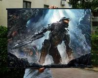 Halo 4 HD Game Movie Wall Scrolls Poster Bar Cafes Home Decor Banners Hanging Art Waterproof Cloth Decorate 60X90 CM