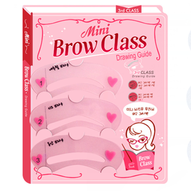 3pcs/set Beauty Eyebrow Shaping Stencils Grooming Kit Makeup Shaper Set Template Make Up Tools