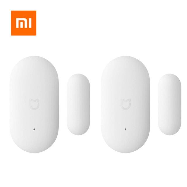 Caliente Original Xiaomi Sensor de ventana de puerta tamaño de bolsillo Xiaomi Smart Home Kits sistema de alarma funciona con Gateway mi Home APP
