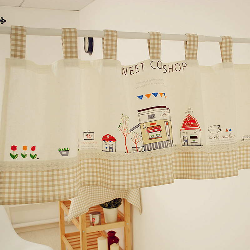 Home Decoration Cute Kitchen Curtains 140cm width by 50cm