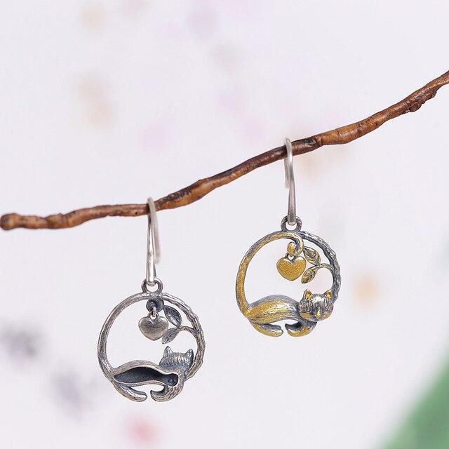 Dangles Fashion Cute Animal 925 Silver Butterfly Ladybug Earrings55