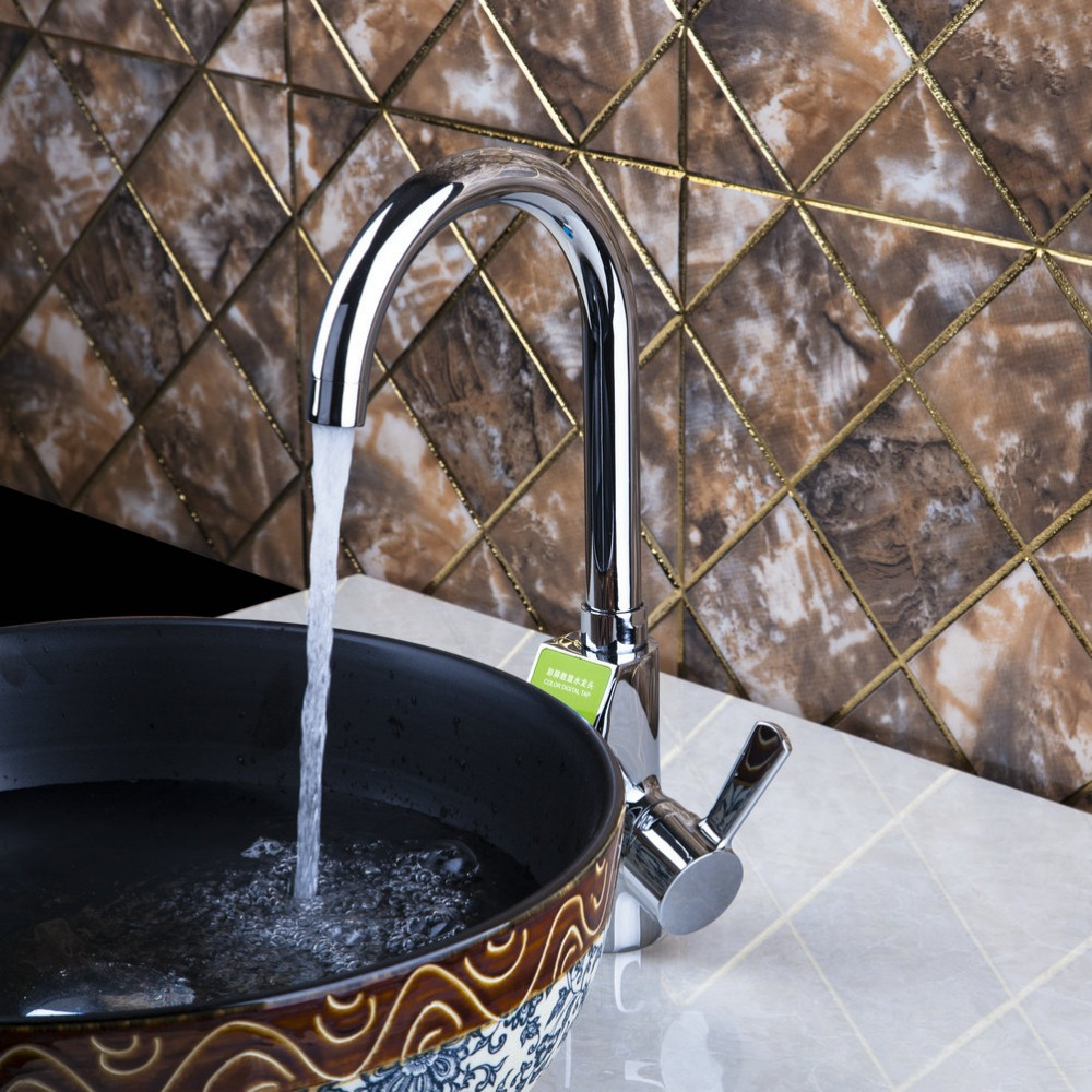 Shivers 97130 Chrome Brass Kitchen Faucet Sink Mixer Taps Single Handle Rotatable torneira para pia cozinha