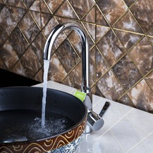 Дрожит 97130 хромированная латунь кухонный кран раковины смесители Одной ручкой Поворотный torneira Para Pia Cozinha Grifos Cocina