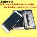 De alta calidad para xiaomi redmi note 3 pro lcd display + touch screen + frame para hongmi note 3 pro accesorios de reemplazo