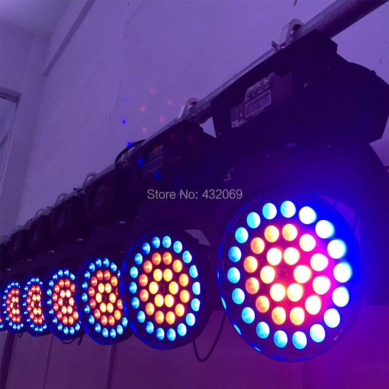 Livraison gratuite 2 PCS/PACK 36 tête mobile couleur focus RGBWA UV 12 W 6in1 led lavage zoom DJ DMX lavage Led affichage 3 anneaux contrôle - 3