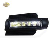 SNCN E4 LED Daytime Running Light for Toyota Prado 120 LC120 GRJ120 Land cruiser 2003~2009 Fog lamp drl bumper light