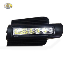 SNCN LED Daytime Running Light for Toyota Prado 120 LC120 GRJ120 2003~2009 Fog lamp drl bumper light accessories parts