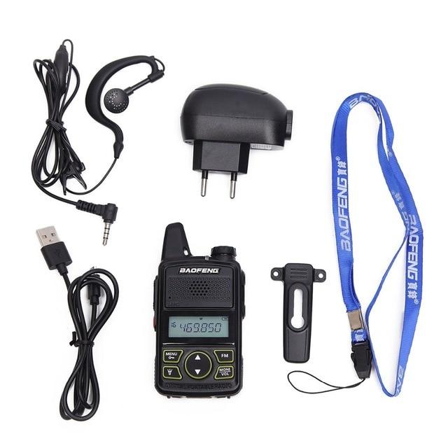 2pcs baofeng bf-t1 bft1 mini walkie talkie cb two way radio uhf long range flashlight handheld transceiver  portable ham radio