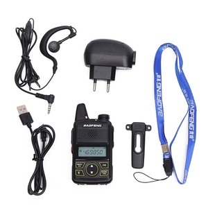 Image 5 - 2Pcs Baofeng BF T1 BFT1 미니 워키 토키 cb 양방향 라디오 UHF 장거리 손전등 휴대용 트랜시버 휴대용 햄 라디오