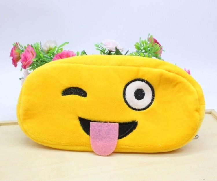 Kawaii Cartoon Pen case Totoro plush Smile Face Emoji Cute Pencil case School Minecraft etui trousse scolaire stylo 04819 26