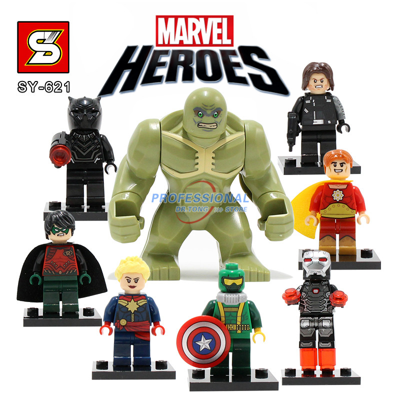 8PCS/LOT SY621  Avengers American Civil War Capatain America Hulk Winter Solider Black Panther Figures Super Heroes victorian america and the civil war