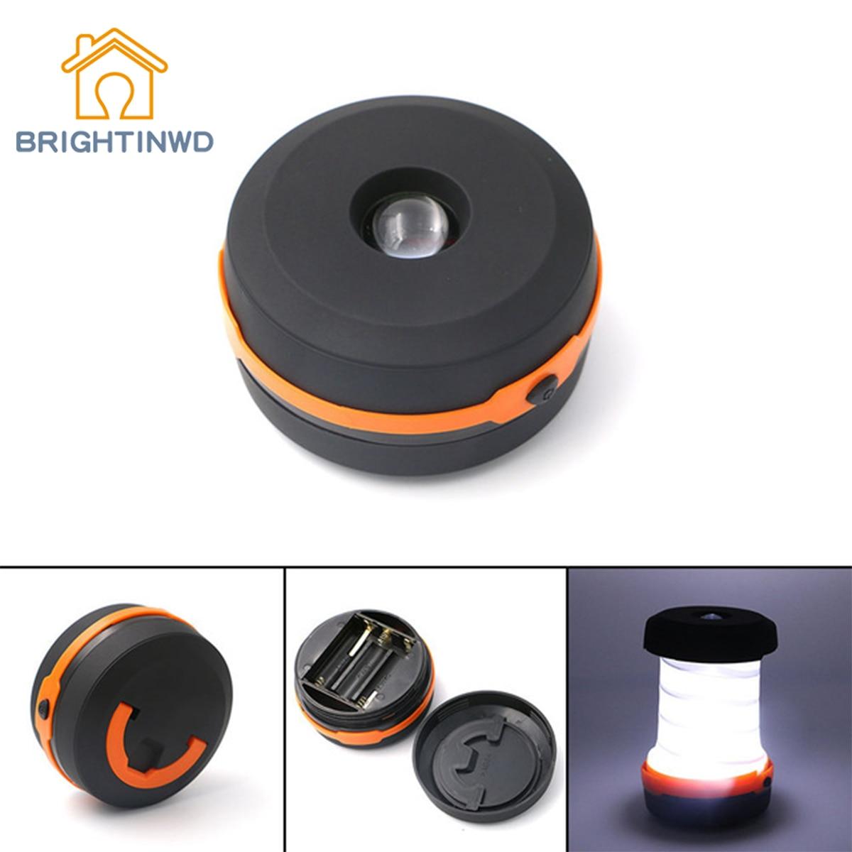 LED Flashlight Outdoor Portable Lantern Mini Tent Light Emergency Lamp Pocket Torch Multifunction Retractable Camping Lights
