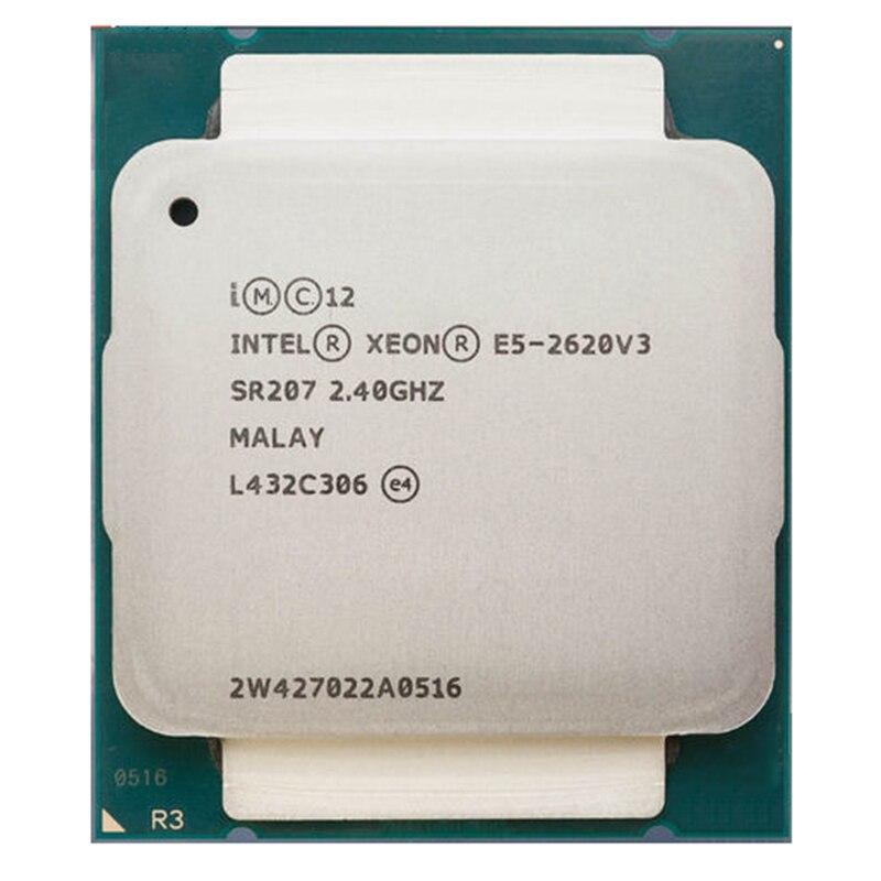Intel Xeon E5-2620 V3 E5 2620V3 E5-2620 V3 LGA 2011-V3 6 Core 2.40 GHz 15 MB 85 W CPU Processeur P/N: E5-2620V3