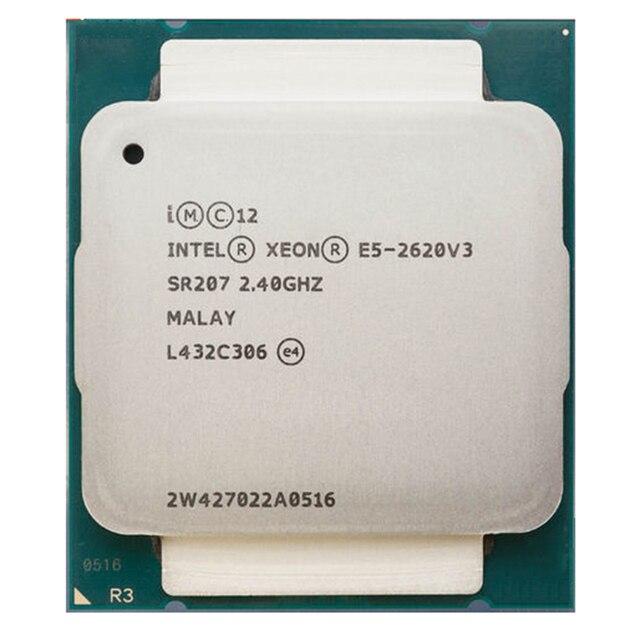 Intel Xeon E5-2620 E5-2620 E5 2620V3 V3 V3 2011-V3 LGA 6 Core 2.40 GHz 15 MB 85 W Processador CPU P/N: E5-2620V3