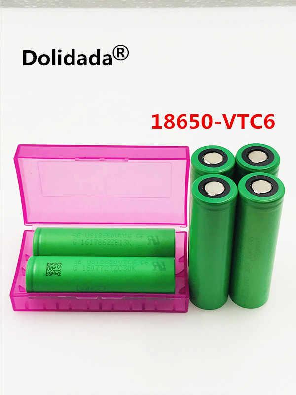 10 قطعة Dolidda 100% الأصلي VTC6 3.7 فولت 3000 مللي أمبير 18650 بطارية لسوني us18650 vtc6 3000 مللي أمبير بطارية استخدام اللعب أدوات مصباح يدوي