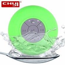 ФОТО chyi wireless bluetooth speaker mini portable subwoofer shower ipx4 waterproof car hands-free receive call music suction mic pc