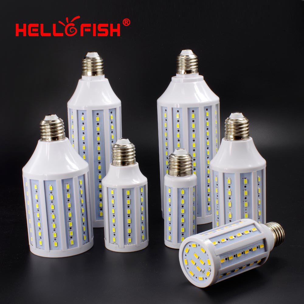 Hello Fish  5730 SMD LED Lamp 11w 15w  25w 30W  LED Corn Bulb,  E27 220V/110V Corn bulb light vbs real wattage 25w 35w 45w led lamp corn bulb 110v 220v e27 aluminum fan cooling 5730 smd led spot light corn light bulb