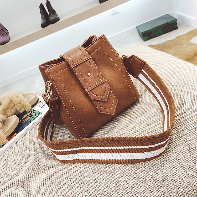 Factory Direct Sales New Retro Broadband Pu Bucket, Shoulder Bag, Fashion, Simple, Wide Shoulder Strap, Women Bag Satchel.-in Shoulder Bags from Luggage & Bags on Aliexpress.com | Alibaba Group