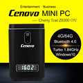 2016 Nueva Cenovo Kingkong Mini PC Cereza Z8300 Quad Core de Windows 10 TV BOX 4 GB/64 GB 2.0MP Cámara Mini Ordenador PC BT USB3.0