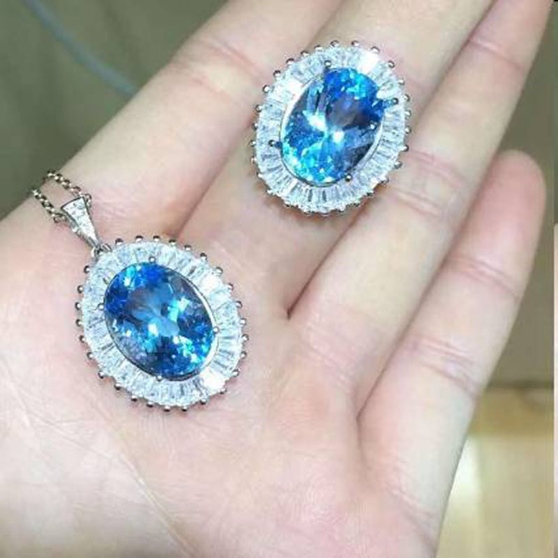2017 Qi Xuan_Blue Stone Simple Elegant Pendant Necklace Sets_Real Blue Necklace_Quality Guaranteed_Manufacturer Directly Sale 2017 Qi Xuan_Blue Stone Simple Elegant Pendant Necklace Sets_Real Blue Necklace_Quality Guaranteed_Manufacturer Directly Sale