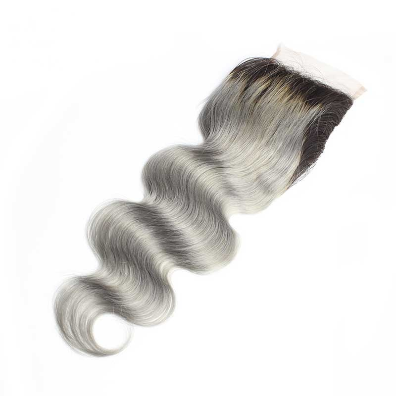 Full-Shine-Brazilian-Real-Human-Hair-3-Bundles-With-Lace-Closure-Color-1B-Ombre-Silver-Body (3)