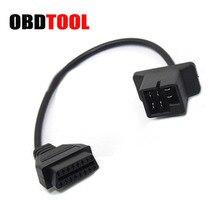 Dla Chrysler 6pin do 16 Pin kabel OBD2 skaner samochodowy złącze Auto diagnozowanie Adapter ELM327 i skaner przedłużacz JC20