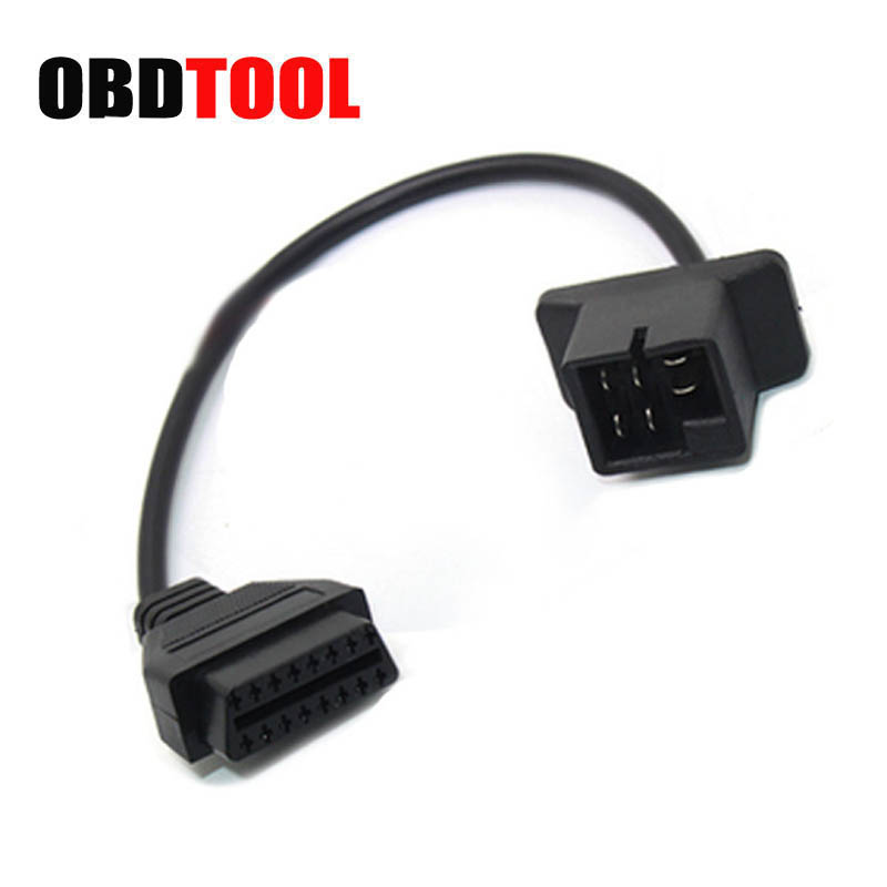 For Chrysler 6pin To 16 Pin OBD2 Cable Car Scanner Connector Auto Diagnose Adapter ELM327 And Scanner Extension Cable JC20