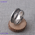 High quality 316L stainless steel men ring wedding ring black/silver plated jewelry