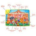 78x48 СМ большой размер Детские Забавный Цирк Животных Музыкальный ковер Сенсорный Играть Пение Тренировки Ковровое покрытие Игрушки, образовательные музыкальный игровой коврик