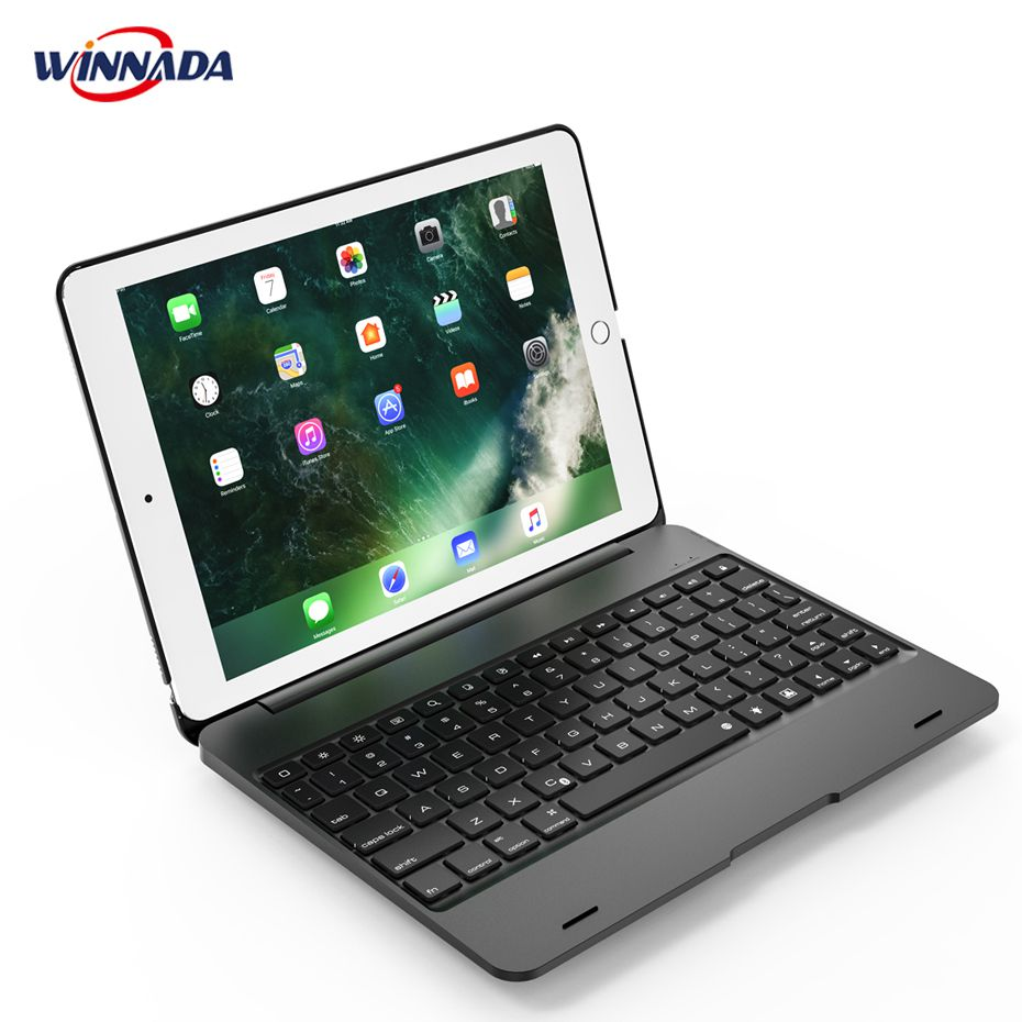 For ipad 2018 / 2017 / air / air 2 / Pro 9.7 inch case with Backlit Bluetooth Keyboard full body cover for ipad 2018 2017 air air 2 pro 9 7 inch case with backlit bluetooth keyboard full body cover