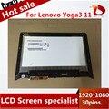De alta calidad Para LENOVO YOGA 3 11 Asamblea LED LCD de Pantalla Táctil + Frame 1920*1080 30 pines