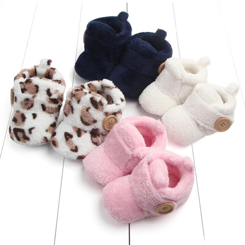 4Colors Sweet Newborn Baby Girls Princess Winter Warm Snow Shoe First Walkers Soft Soled Infant Toddler Kids Unisex Shoes 17Dec7