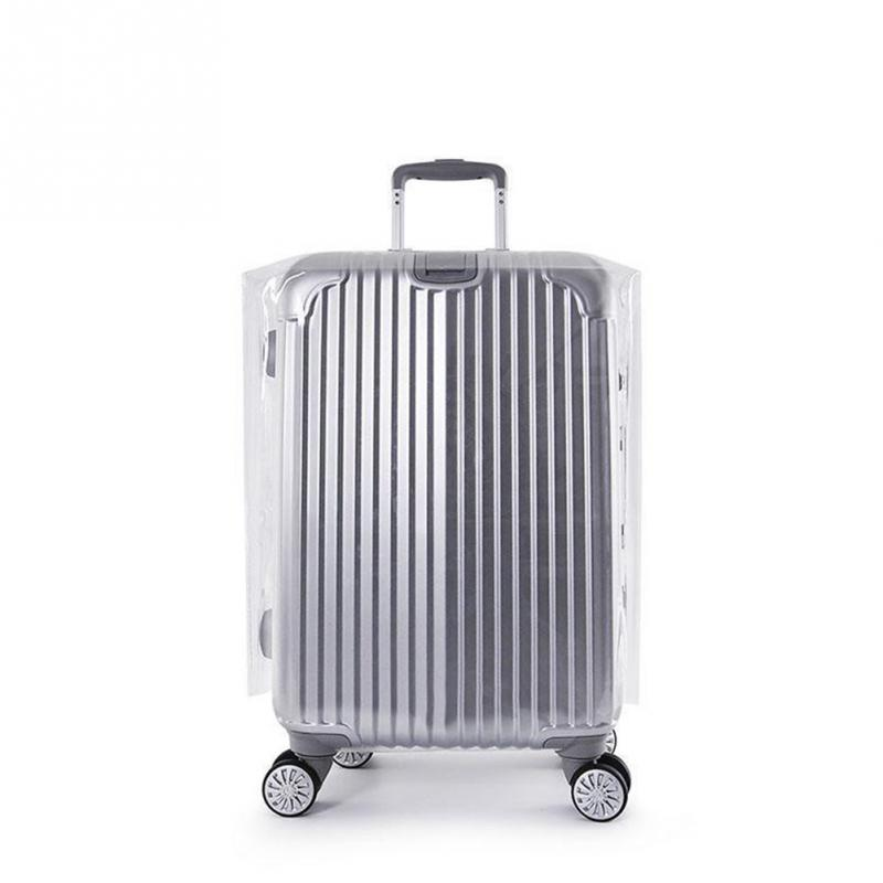 Travel Waterproof Suitcase Cover Transparent Luggage Cover PVC Thickening Size 20, 22, 24, 26, 28 Dustproof Protective Cover все цены