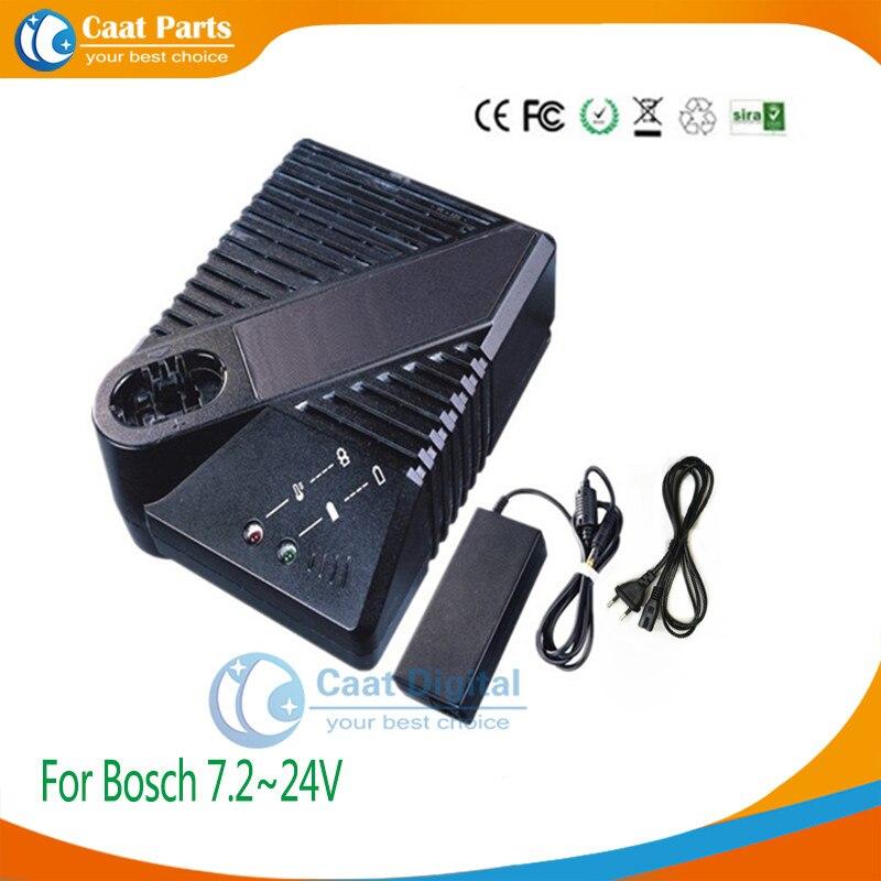 Boutique Strumento di Potere Batteria Caricabatterie per Bosch 7.2 v ~ 24 v Ni-CD e batterie Ni-Mh, tra cui adattatore esterno di alimentazione