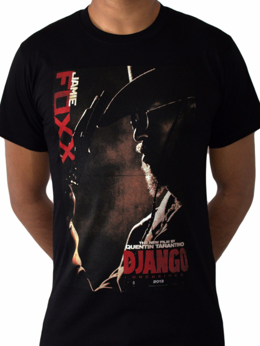 comfortable-office-django-unchained-jamie-foxx-movie-poster-font-b-tarantino-b-font-western-black-mens-t-shirt-o-neck-short-sleeve-mens-tee