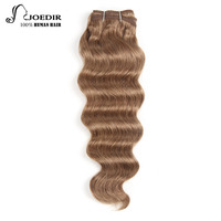 Joedir חבילות לארוג שיער פרואני שיער Loose העמוק גל חום בהיר צבע 4 #6 # #8 רמי הארכת שיער 100% שיער אדם חבילות