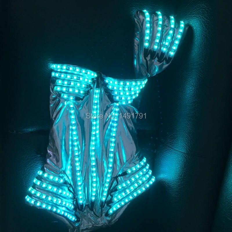Женская светодиодная одежда, светящийся костюм, Дамский бюстгальтер, светящиеся шорты, светодиодный балетный костюм, вечерние костюмы, el