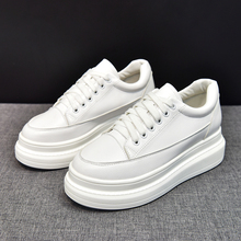 Moxxy 2019 Autumn White Leather Shoes Casual Female Tennis Womens Fashion Platform Canvas Sneakers