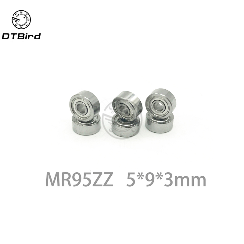 10pcs MR95ZZ 5x9x3mm Miniature Ball Bearings Deep Groove Ball Bearing