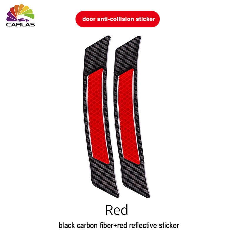 Image 4 - 2 Pieces/Pack Car Door Bumper Sticker Warning Safety Mark Anti Collision Auto Side Anti scratch Strip Car Reflective Strip-in Car Stickers from Automobiles & Motorcycles