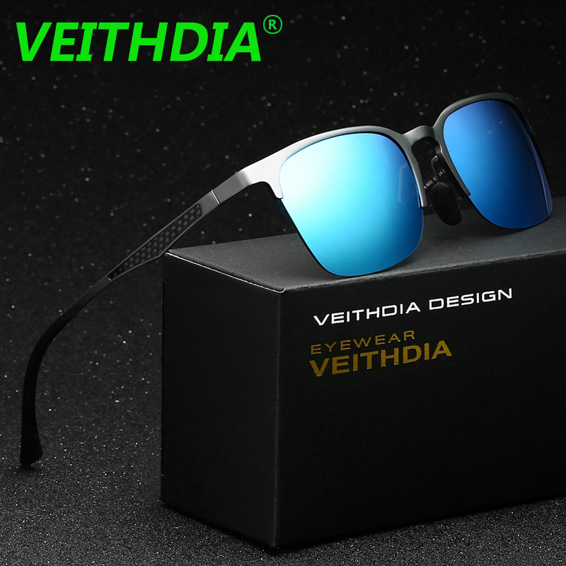 VEITHDIA Unisex Retro Brand Sunglasses Polarized Vintage Aluminum Magnesium font b Eyewear b font Accessories Sun