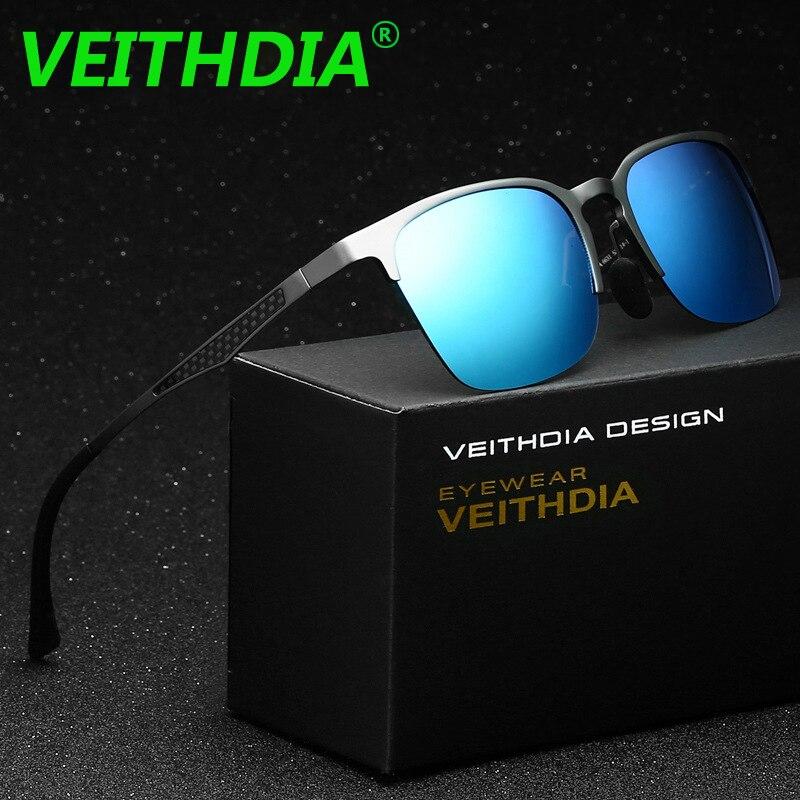 VEITHDIA Unisex Retro Brand Sunglasses Polarized Vintage Aluminum Magnesium Eyewear Accessories Sun Glasses For Men Women