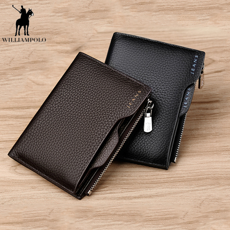 New Wallet Brand Short Men Wallets Genuine Leather Male Purse Card Holder Wallet Fashion Man Zipper Wallet Men Coin bag PL146 2017 new wallet small coin purse short men wallets genuine leather men purse wallet brand purse vintage men leather wallet page 2